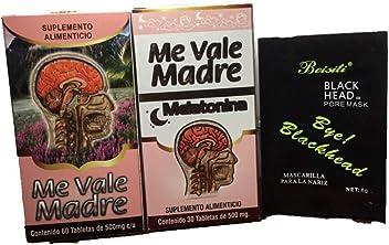 Me Vale Madre 60 Cap y Me vale Madre Melatonina 60 Cap. Headache Migraine &
