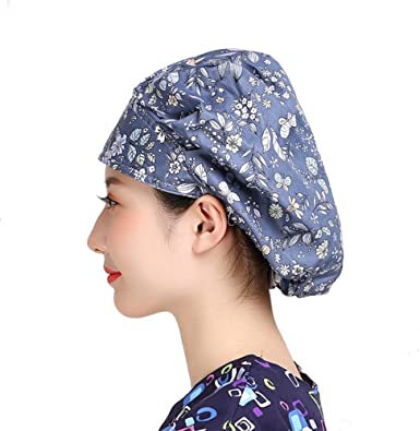 TOMMHANES AMISGUOER Bouffant Hat Work Leisure Cap One Size Multiple Colors