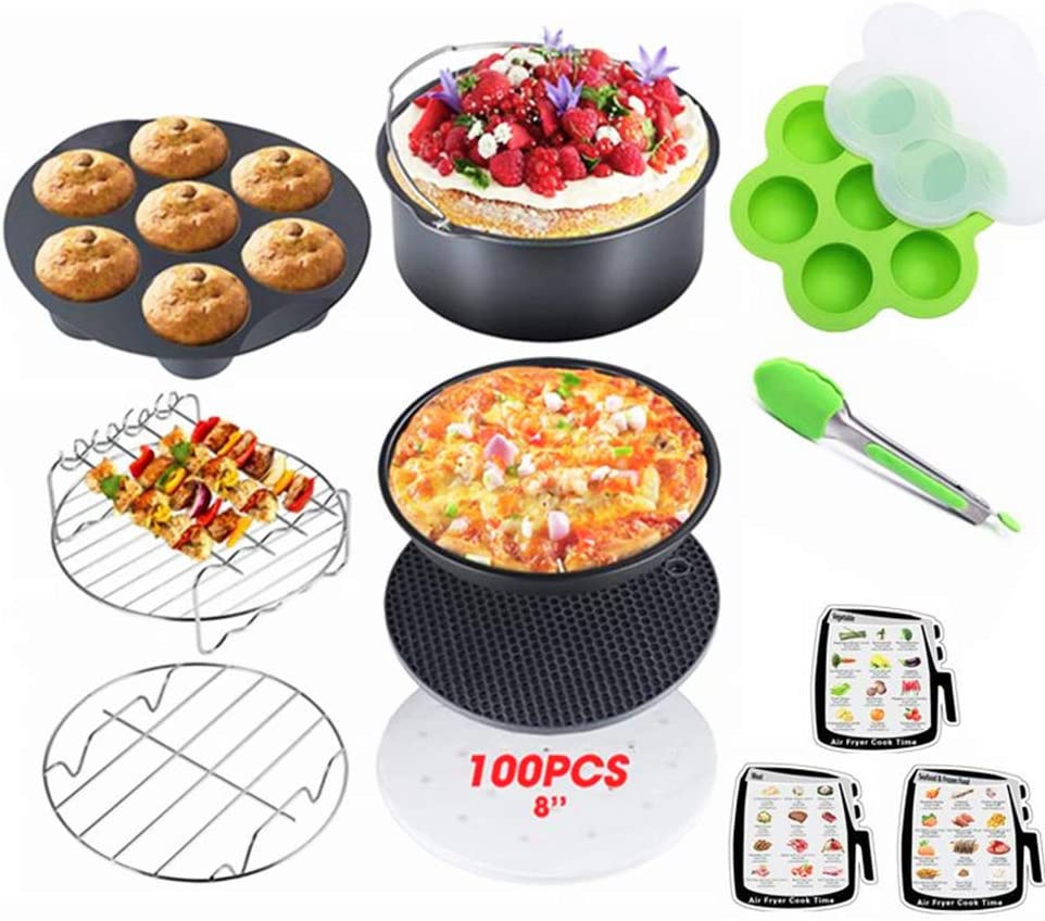 LIANGZHILIAN 12Pcs Instant Pot Accessories fit 5 6 8QT Pressure Cooker Accessories Steamer Basket, Springform Pan, Silicone Egg Bites Molds, Egg Steamer Rack
