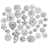 Zaki Lot 25pcs Silver Color Sparking Rhinestone Wedding Bridal Crystal Brooches Brooch Pins Bouquet Kit