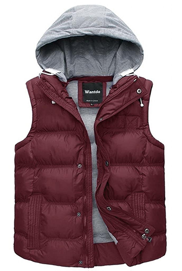 Wantdo Women's Winter Quilted Hooded Puffer Vest ZH552