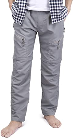 Mens Convertible Pants Solid Straight Work Outdoor Shorts Quick Drying Trousers