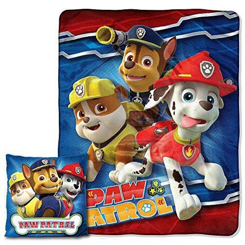 Disney's Paw Patrol Pals Pillow and Throw  2 pieces Blanket Set -
