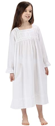 The 1 for U Girls Nightie 100% Cotton Vintage Victorian Style - Age ... 38f899ff3