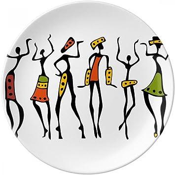 Primitive Africa - Plato de postre de porcelana decorativo, diseño ...