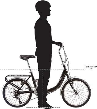Schwinn Loop - Bicicleta Plegable de 50,8 cm, S2280B, Negro ...