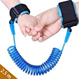 Baby Child Anti Lost Safety Wrist Link Harness Strap Rope Backpack Leash Walking Hand Belt Band Wristband for Toddlers, Kids(2.5m Blue)