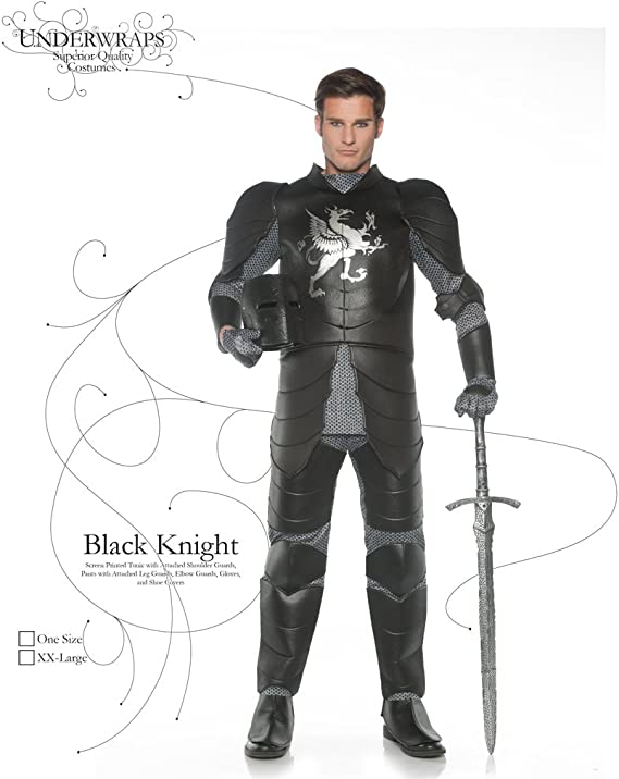Skull Warrior Adult Men/'s Costume Tunic With Shoulder Guards Fancy Dress