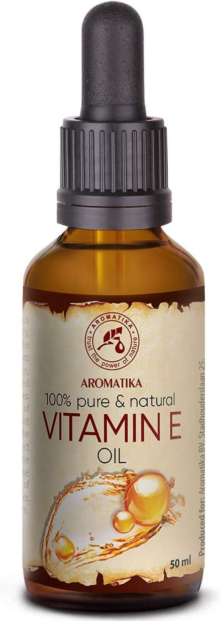 Aceite Vitamina E Gotas 50ml - Naturales - Tocoferol - Vitamin E Oil - Aceite Antienvejecimiento Contra Todo Tipo de Arrugas - Cuidado Facial - Cuidado Corporal - Cabello