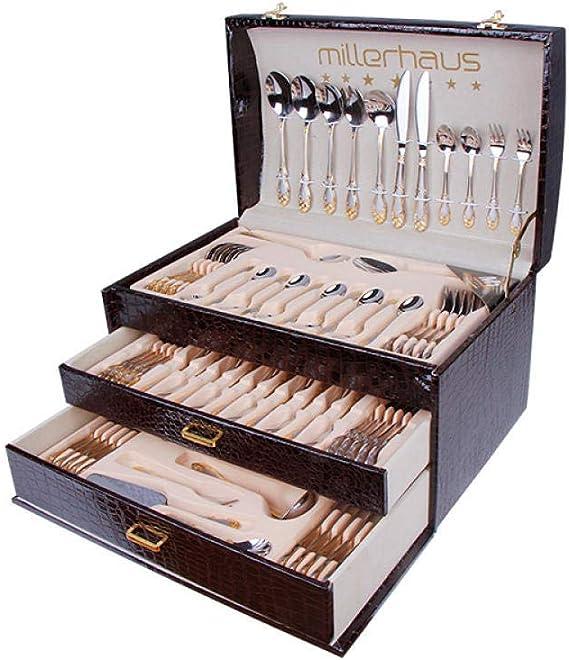 WHWH Set de Cubiertos de 72 Piezas con Tenedor, Cuchillo y Tenedor ...