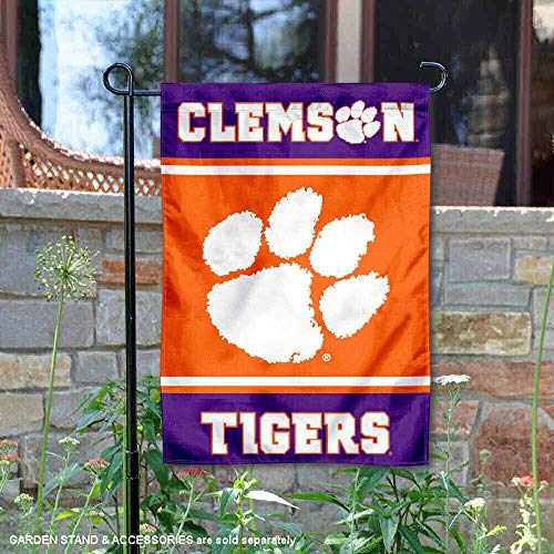 Clemson University Garden - College Flags and Banners Co. Clemson Tigers Garden Flag