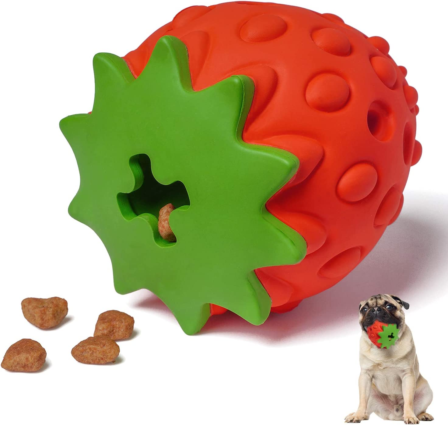MewaJump Dog Toys for Aggressive Chewers, Indestructible DogChewToy for Training and Cleaning, Durable Rubber Dog Toys, Interactive Tough Teething Toy for Small Medium Large Dogs