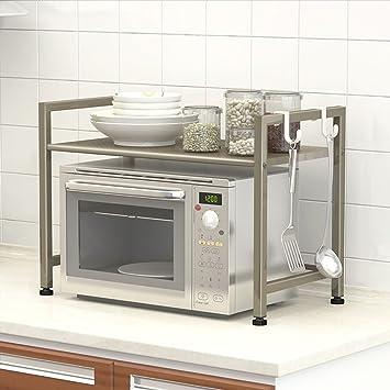 ILQ Küche Mikrowelle Racks Schränke Küche Supplies Regale 2 Storey ...