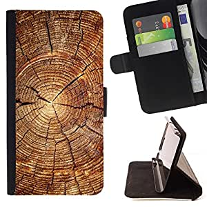 - Wood Block Pattern/ Personalized Design Custom Style PU Leather Case Wallet Flip Stand - Cao - For HUAWEI P8 Lite