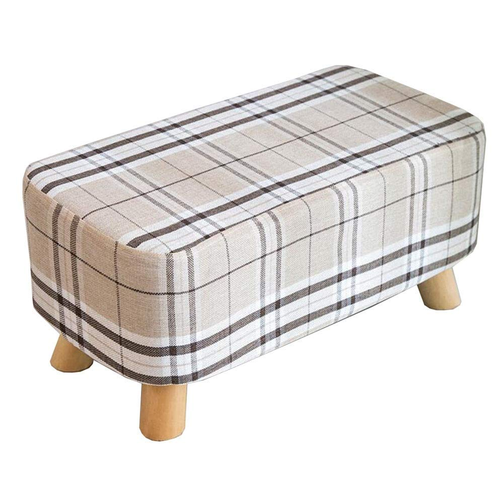 GPWDSN Padded Schminktisch Hocker Fußschemel 4 Holz Beine Ändern Schuh Hocker Gepolstertes Sofa Abnehmbarer Wasch Wohnzimmer Flur Schlafzimmer 27cm