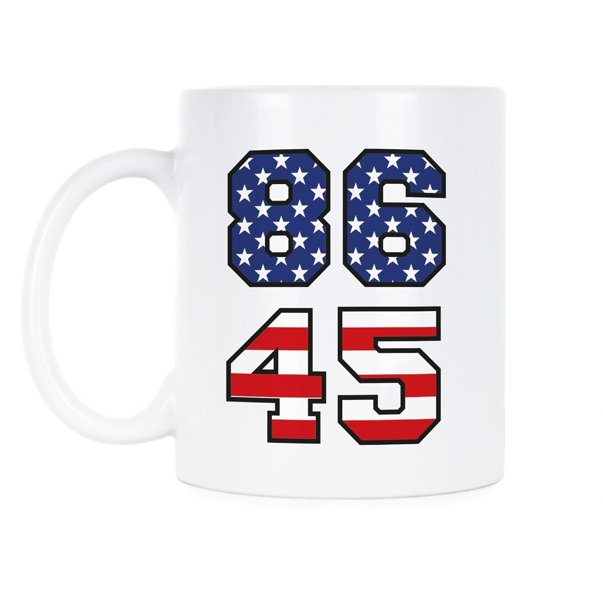 8645コーヒーカップ86 45 Mug Impeach Trumpコーヒーマグ 11 oz. B07FK1KQ8V  11 oz.