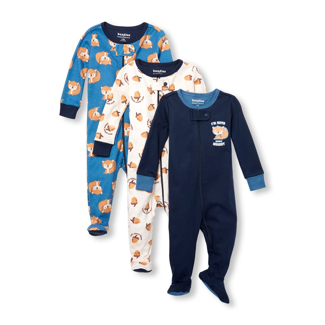 The Childrens Place Baby Boys 3-Pack Stretchies