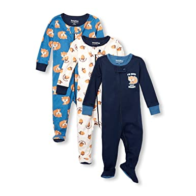 94de7574a461 Amazon.com  The Children s Place Baby Boys  3-Pack Stretchies  Clothing