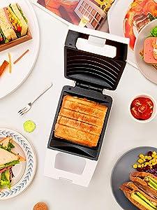 Portable Waffle Maker, 220V Non-Stick Electric Sandwich Breakfast Machine, Toaster Toaster/Baking Tray, EU/US/UK Plug