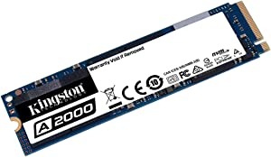 Kingston 500GB A2000 M.2 2280 Nvme Internal SSD PCIe Upto 2000MB/S with Full Security Suite SA2000M8/500G