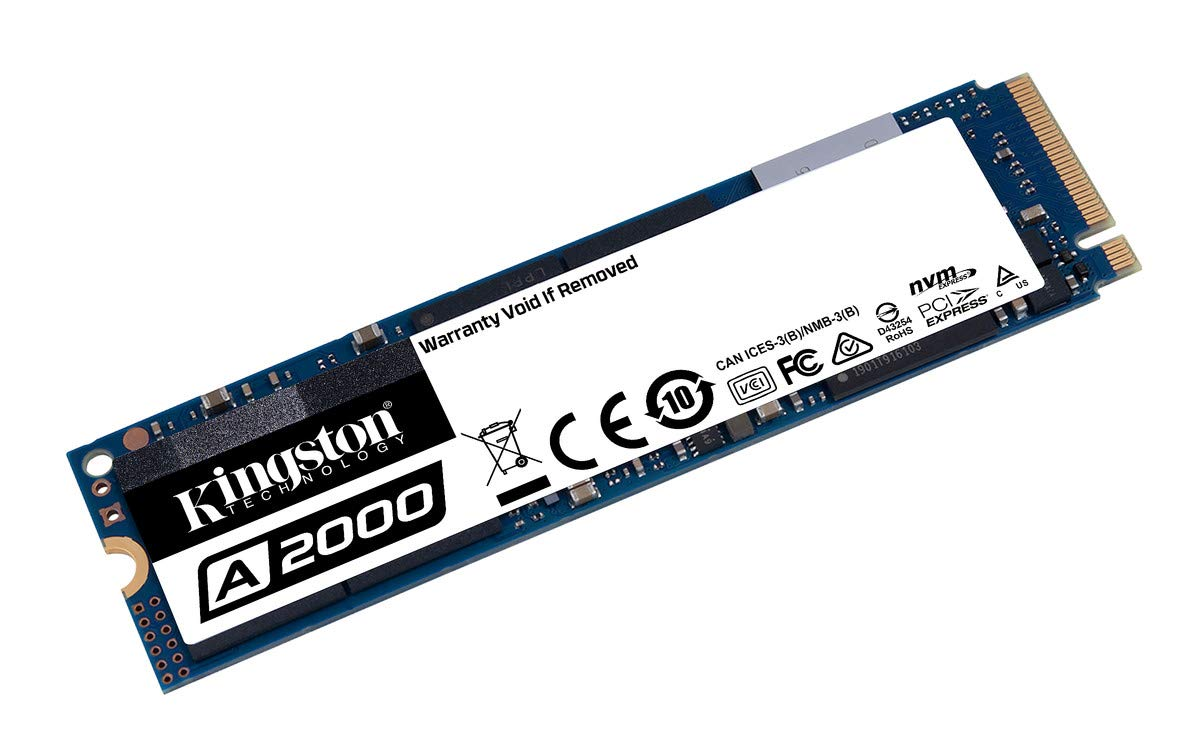 Kingston 500GB A2000 M.2 2280 Nvme Internal SSD PCIe Up to 2000MB/S with Full Security Suite SA2000M8/500G by Kingston