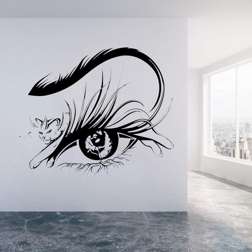 Geiqianjiumai Moderno Leopard Eyelash Salon Tatuajes de Pared ...