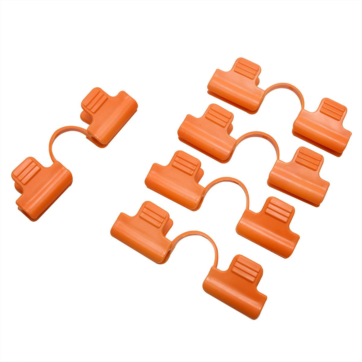 12Pcs Garden Hoop Clips Snap Clamp Netting Cover Trellis for 11MM Plant Stakes by Gardeningwill (Image #1)