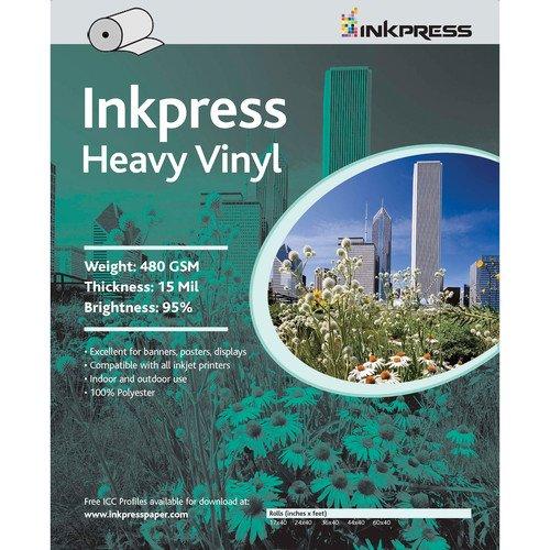 Inkpress Media Inkjet Heavy Vinyl Printer Paper 15 Mil 24in. X 45ft. Roll HV2445