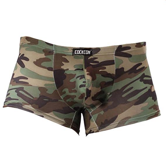 Vividda Camuflaje Calzoncillo Retro Trunks la Ropa Interior de los Hombres Militares de Underpant X-