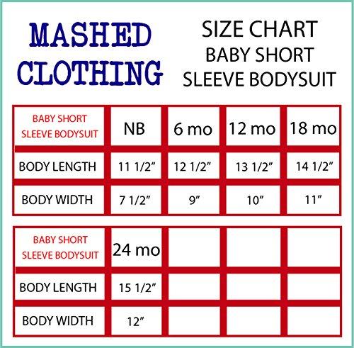 Mashed Clothing Unisex-Baby I Love My Aunt (Ant) Bodysuit (Apple/White, White Print, Newborn) by Mashed Clothing (Image #2)
