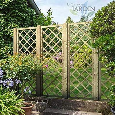 POSTES de MADERA 9x9 cm para JARDIN, para cercar un jardín, parque. (100 cm): Amazon.es: Bricolaje y herramientas