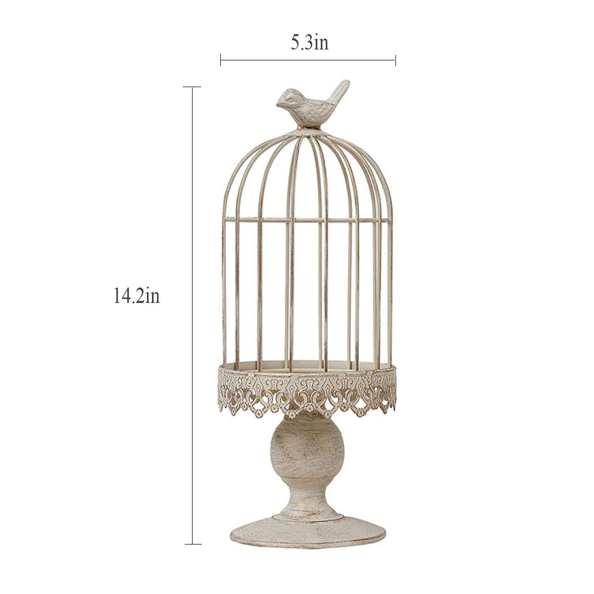 L;IAN Flower Pot Rack Continental Iron Decoration Bird cage Candle Taiwan Wedding American Country Romantic Birthday Products