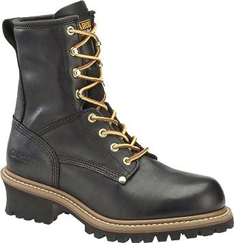 Carolina CA1825 Mens Steel Toe Logger Boot- Black