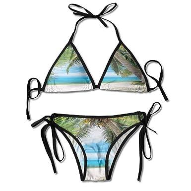 fcfced6dfca Amazon.com: Custom Pattern Knotted String Bikini Set Thong Two ...