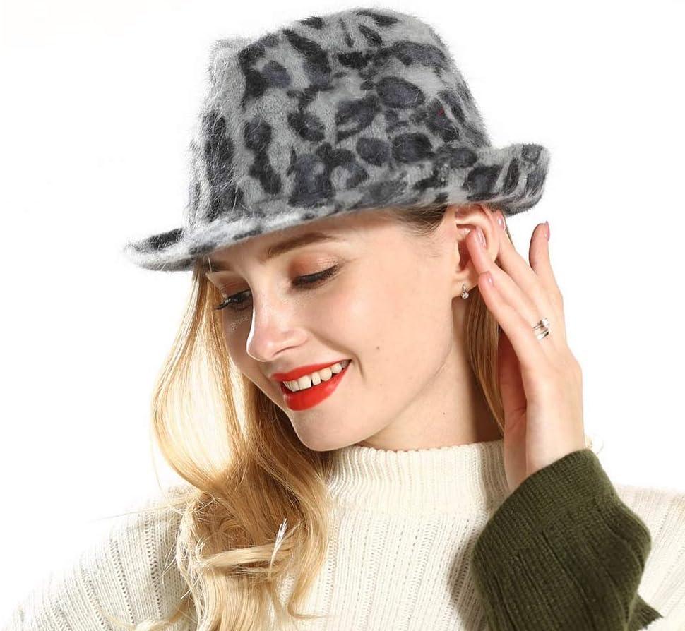 Couleur : Caf/é, Taille : 56-58 HUIXIANGJUAN-HAT Vintage Trilby Chapeau en Feutre Femmes Caf/é Fedora Chapeau Trilby Jazz Cap Chapeau De F/ête for Femmes Hiver Panama Chapeau Jazz Caps