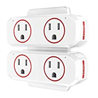 Deals on HoMii Smart Plug Wifi Outlet Dual Socket Compatible w/Alexa