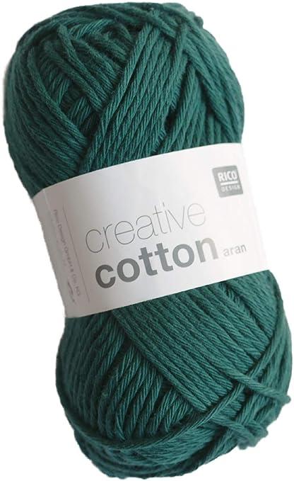 Rico Creative Cotton Aran FB. 23 Verde Oscuro, Hilo de algodón ...
