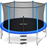 Zupapa 15FT 14FT 12FT 10FT 8FT Kids Trampoline 425LBS Weight Capacity with Enclosure net Include All Accessories Outdoor Back
