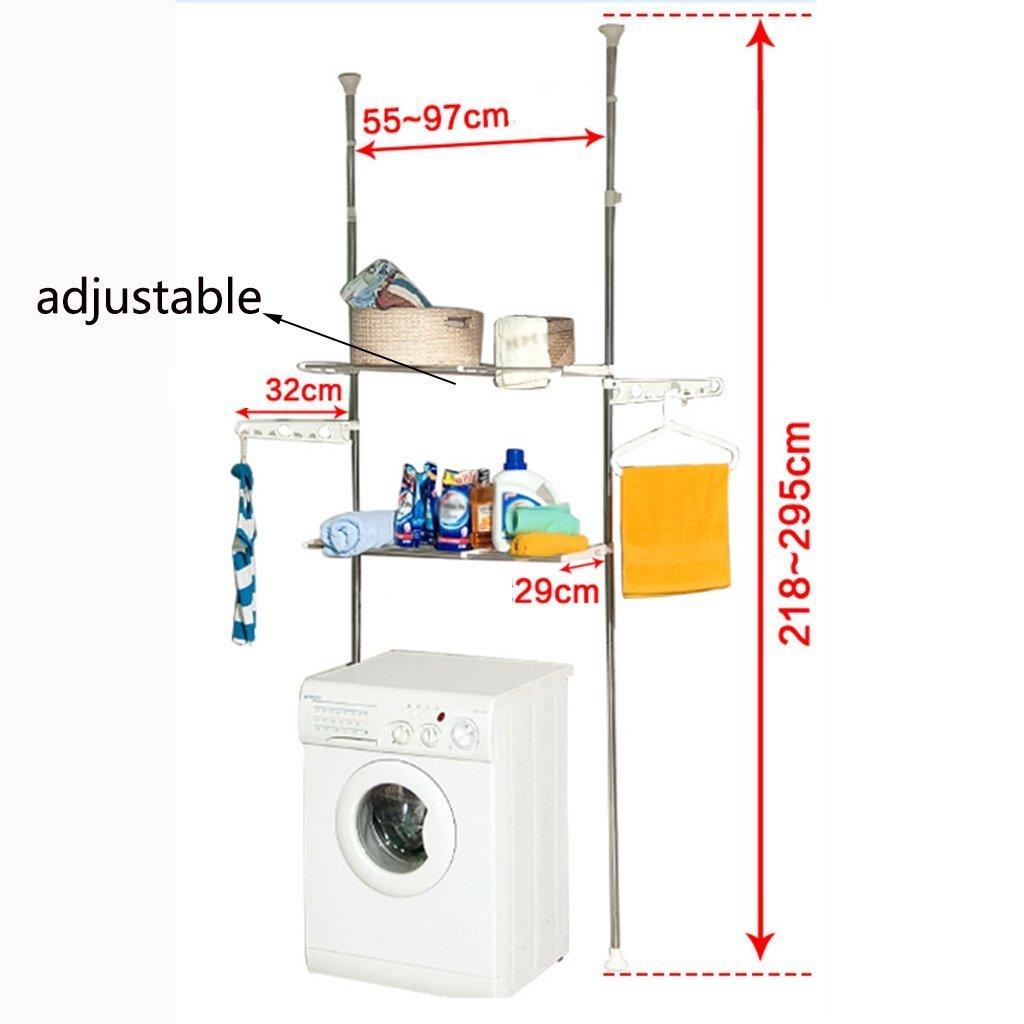 DIDIDD Shelf-Hwf Bathroom Shelves Bathroom Multi-Function Storage Rack Washing Machine Shelves(5529218Cm)
