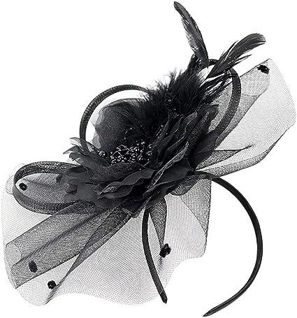 Women Fascinators Hair Clip Headband Hat Veil Flower Derby Cocktail Tea Party Church