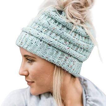 0445c733e7c8 Moonuy Hommes Femmes Baggy Chaud Crochet Hiver Laine Tricot Ski Bonnet  Crâne Slouchy Caps Chapeau Bonnet