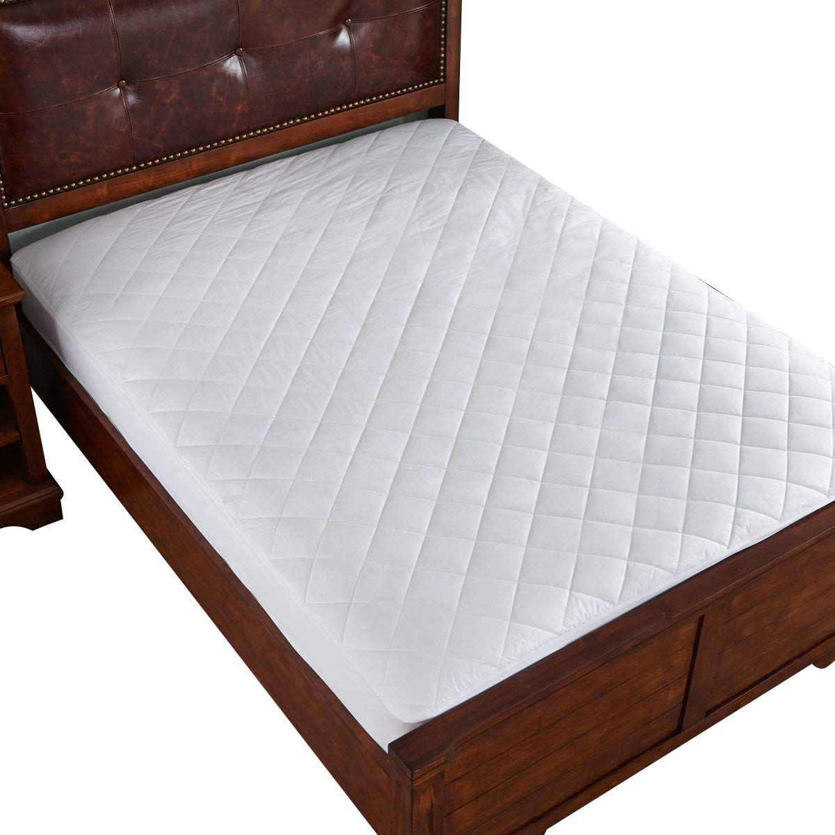Home Elements Waterproof Cotton Mattress Pad, Full Size