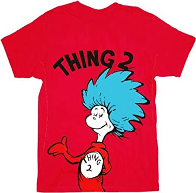 Dr Seuss Thing 2 Adult Red T Shirt Small