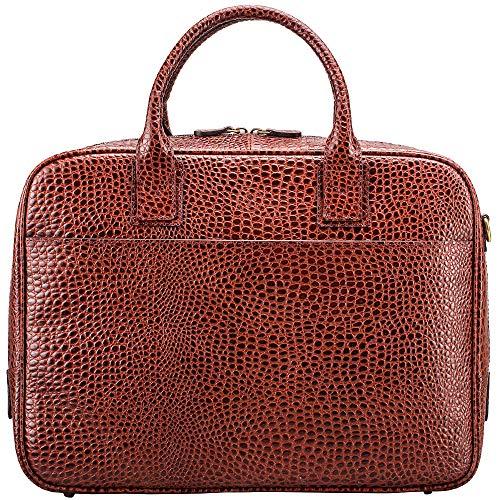 (Maxwell Scott Men's Faux Croc Leather Soft Briefcase - Calvino Croco)