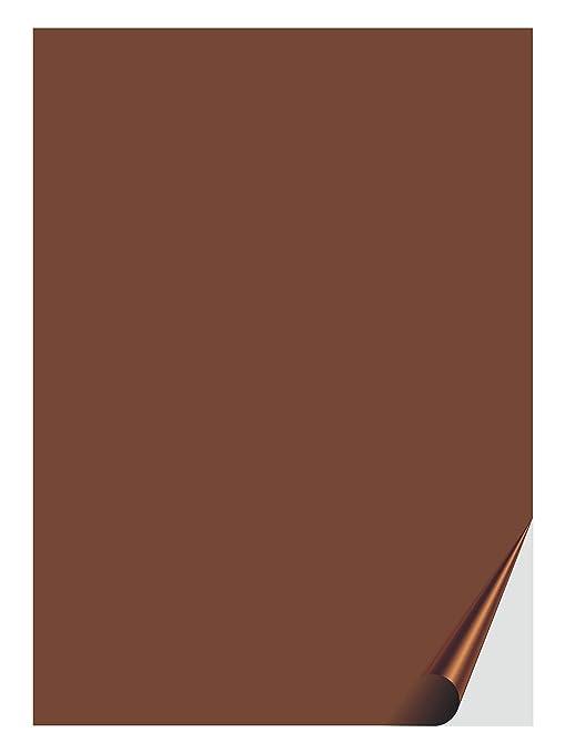 Das Label Selbstklebende Folie Braun Vichy Design Zum