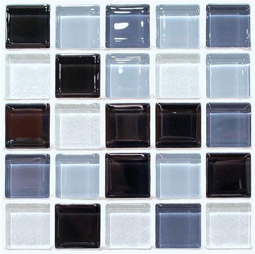 Amazon.com: Pegatinas de azulejos decorativos de cristal con ...