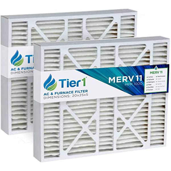 Pack of 6 24 Length x 24 Height x 1 Thickness ReplacementBrand RB-P25S-612424 Air Filter MERV 13