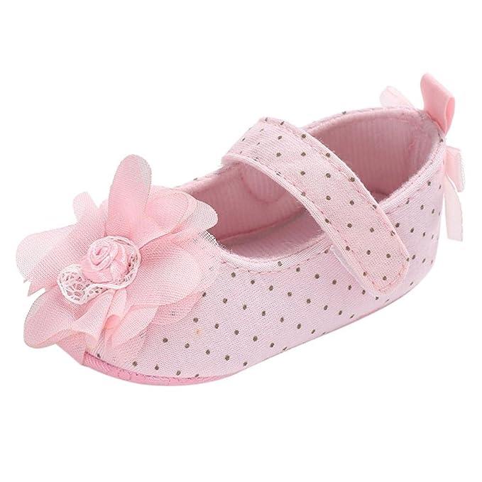 Amazon.com: lngry zapatos, niños bebé niñas gasa flor ...