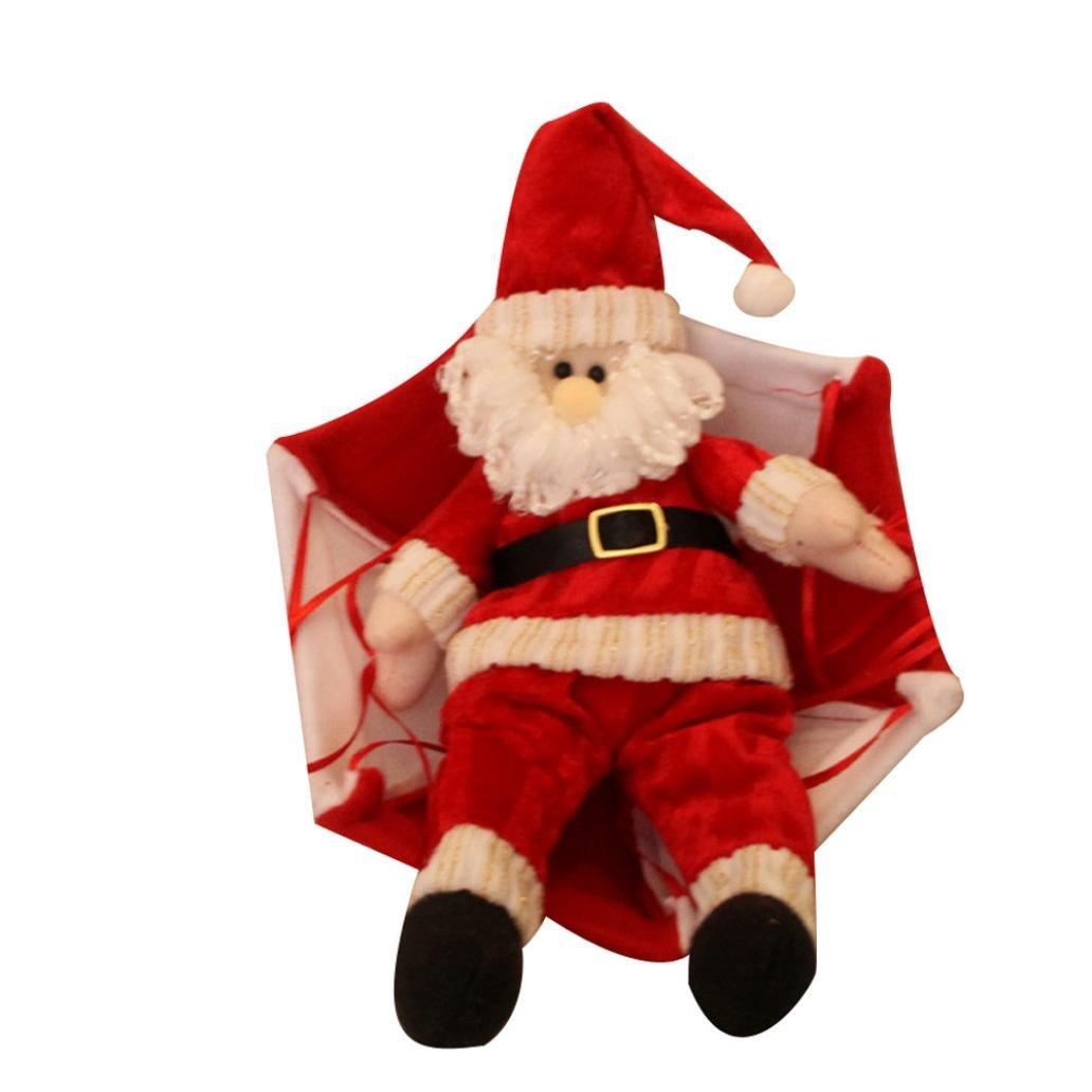 Christmas tree hanging decorations new parachute santa claus snowman - Amazon Com Xmas Ornament Misaky Christmas Tree Hanging Santa Claus Snowman In Parachute Decoration Kitchen Dining
