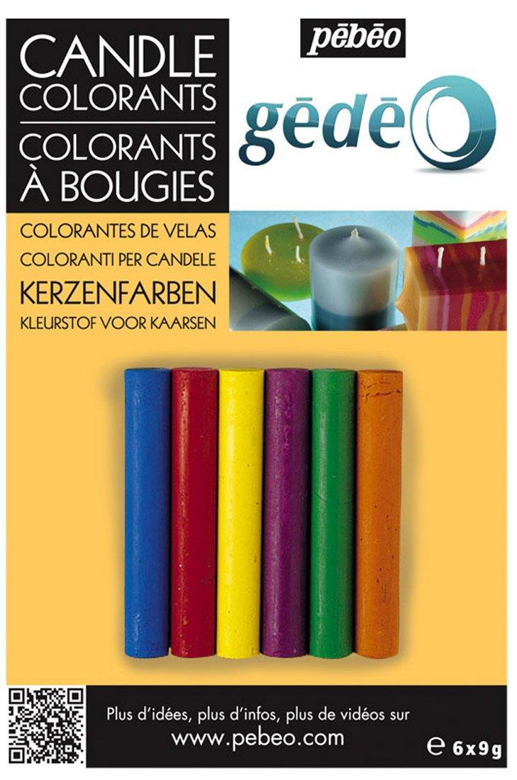 gedeo - Coloranti per candele, in 6 colori diversi Pebeo 766224